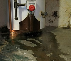 leak water heater